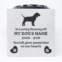 Load image into Gallery viewer, Beagle Personalised Pet Dog Graveside Memorial Flower Vase - Angraves Memorials