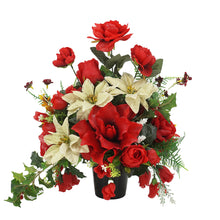 Load image into Gallery viewer, Estelle Christmas Artificial Flower Memorial Arrangement