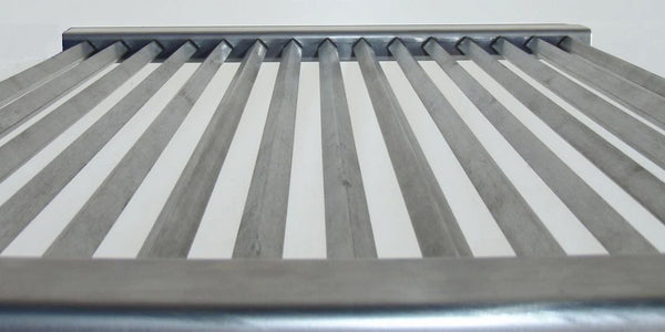 215 x 428mm Stainless Steel Diamond Grill