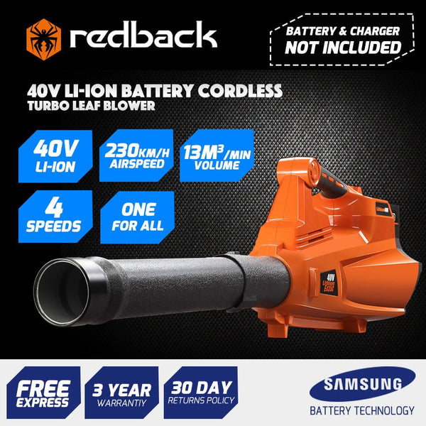 Redback 40V Cordless Blower with Turbo Boost feature (skin Only)