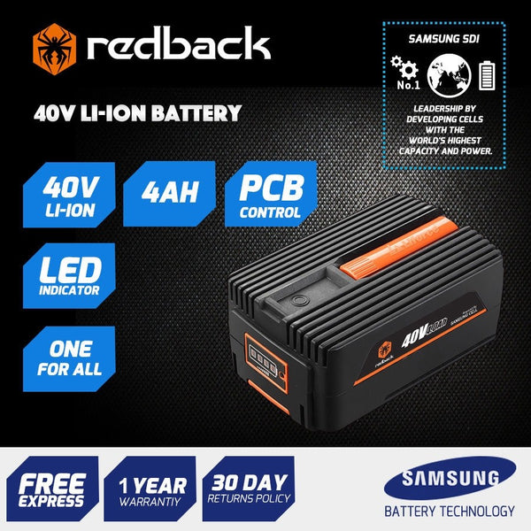 Redback 40V 4 Amp Hour Samsung Cell Battery