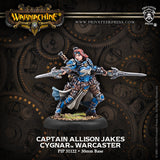 Privateer Press Warmachine Cygnar Captain Allison Jakes Warcaster PIP 31122