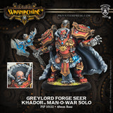 Privateer Press Warmachine Khador Greylord Forge Seer Man-O-War Solo PIP 33122
