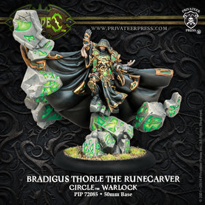 Circle Orboros: Bradigus Thorle the Runecarver Warlock (resin &