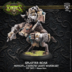 Privateer Press Minion Farrow Light Warbeast Splatter Boar 75072