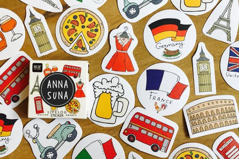 Trip To Europe Sticker Box