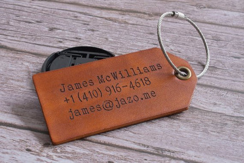 Custom Handmade Luggage Tag
