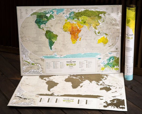Scratchable World Travel Map