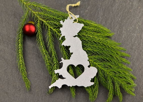Great Britian Metal Country Ornament