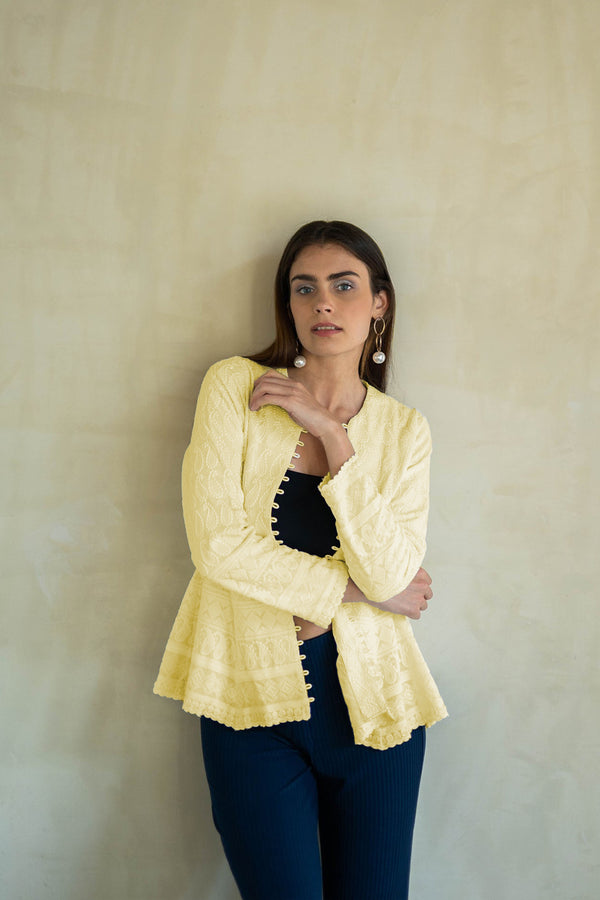 UFF YELLOW EMBROIDERED JACKET