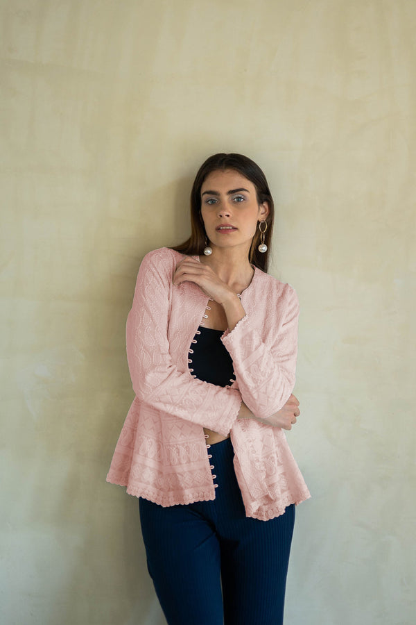 UFF PINK EMBROIDERED JACKET