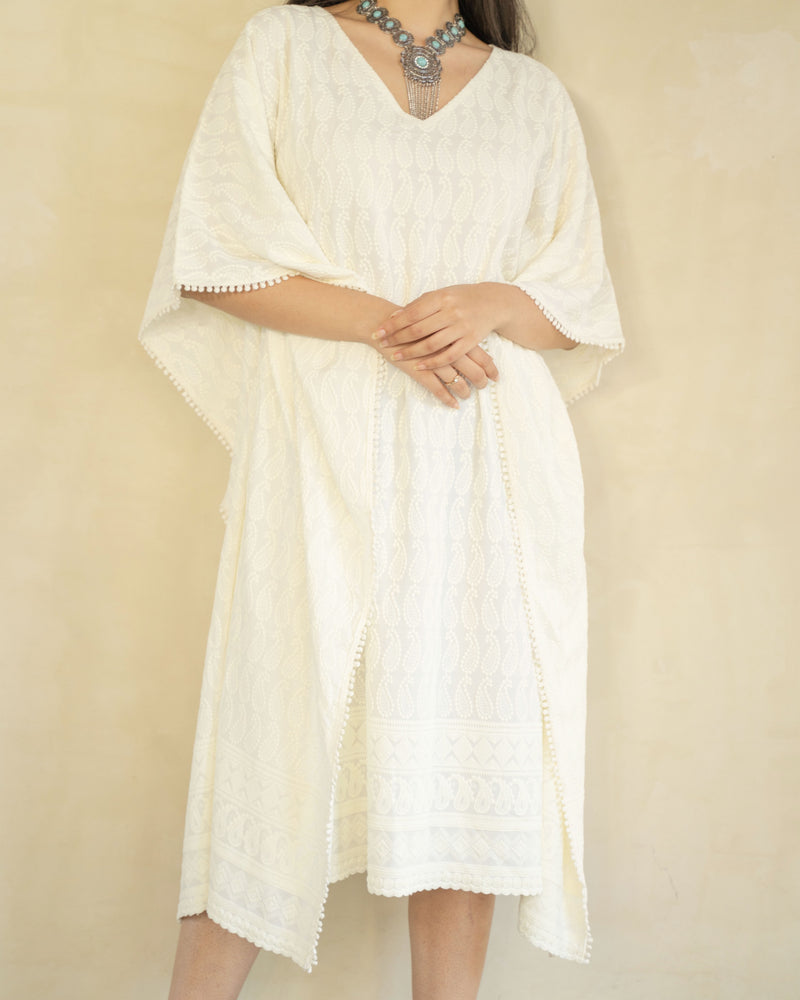 AABHA- COTTON CASUAL KNEE LENGTH DRESS