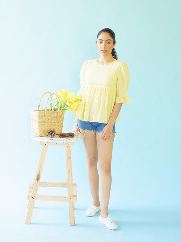 SERENA - BUTTERCUP YELLOW TOP