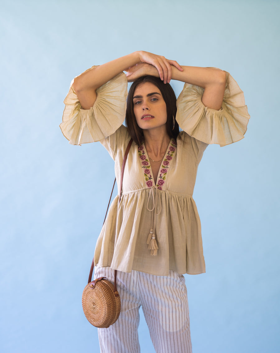 HAZE- BEIGE TOP
