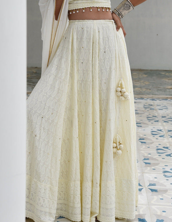 MALIKA- Embroidered Skirt Dress