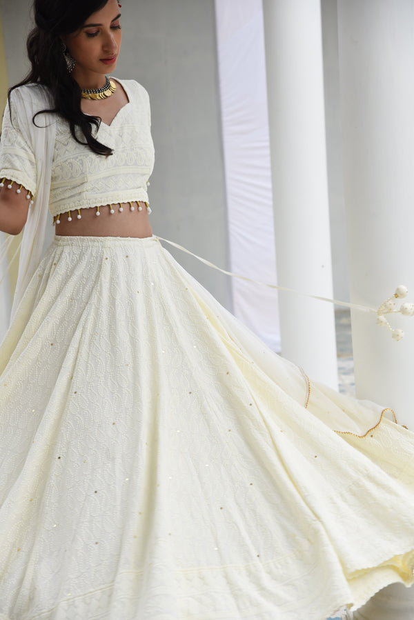 MALLIKA- Embroidered Lehenga Set