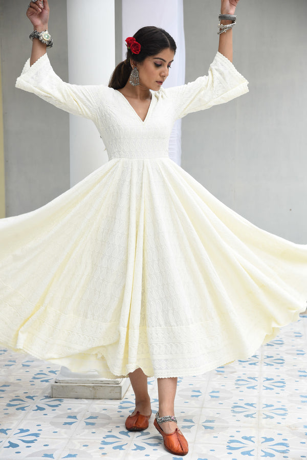 FALAK- EMBROIDERED DRESS