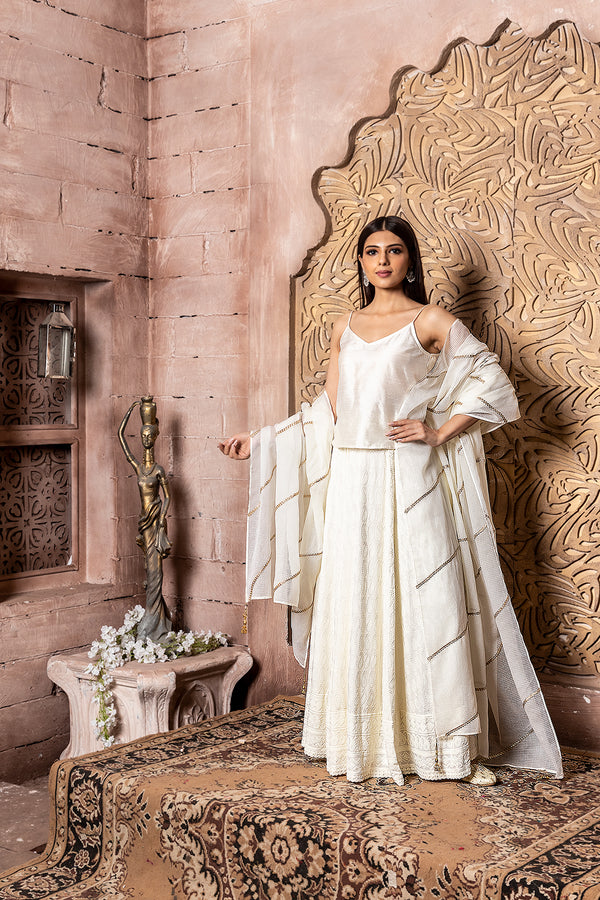 Shuddhi- top with lehenga & dupatta