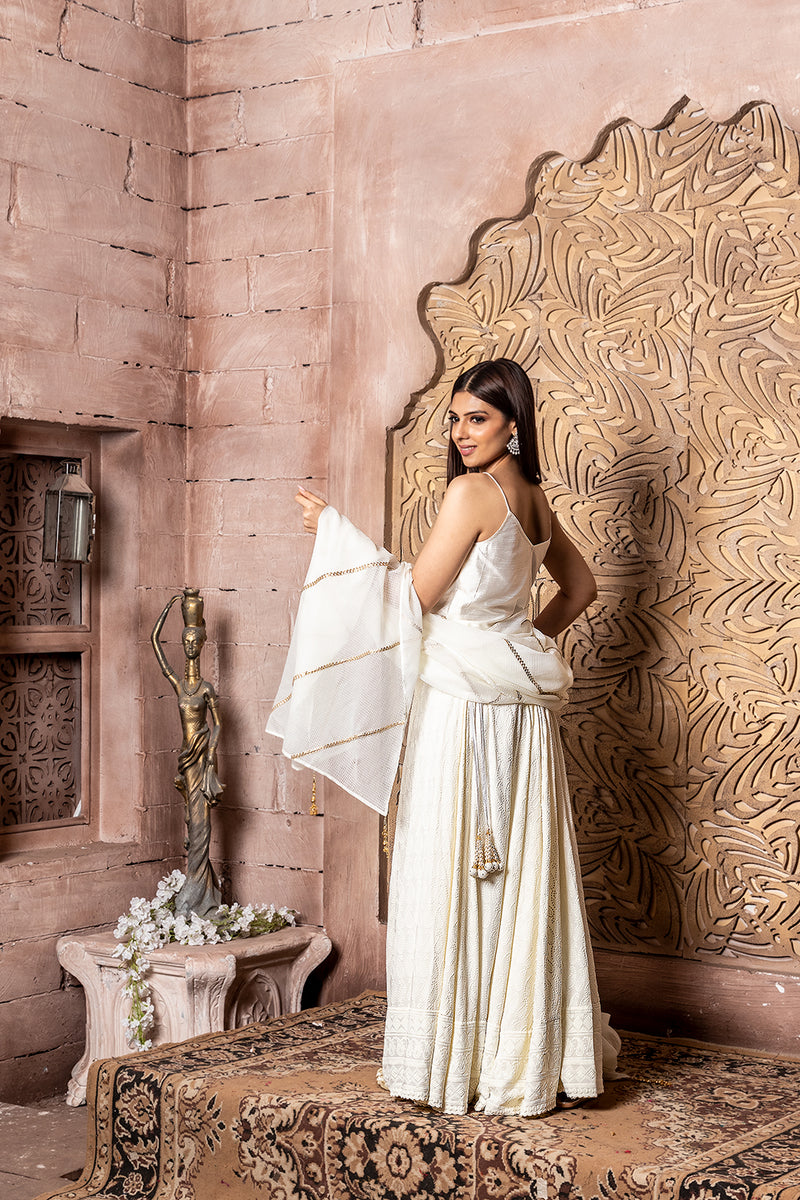 Shuddhi- Slip top with lehenga & dupatta (3 piece set)