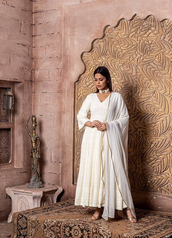 Falak-Embroidered Dress & Dupatta