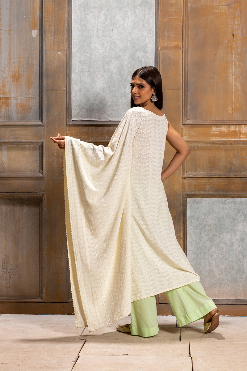 Khanak- Kaftan style Kurta and Pant (2 Piece Set)