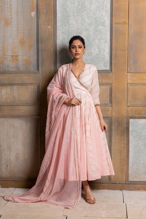 Kimaya-Cotton dress with dupatta