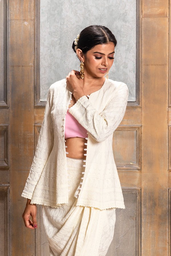 Aaliyah - Embroidered Jacket & Dhoti