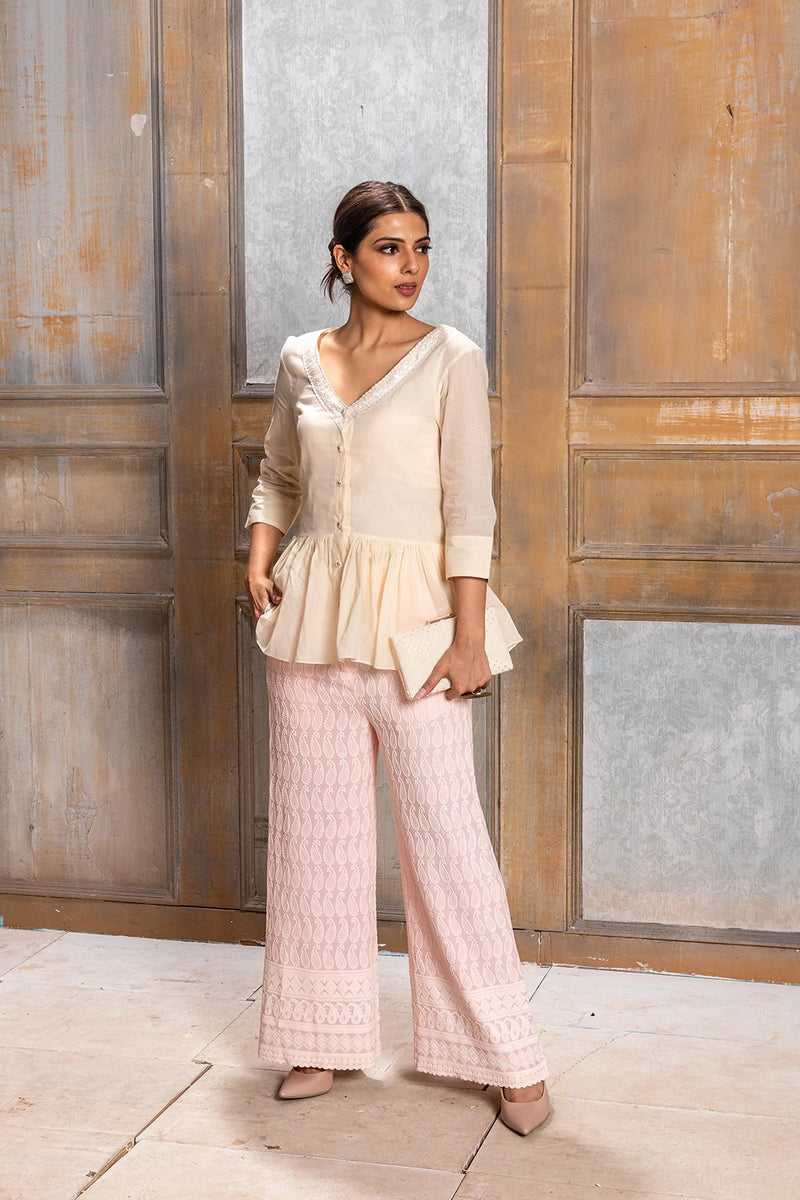 Seher-Gathered Top with Pant