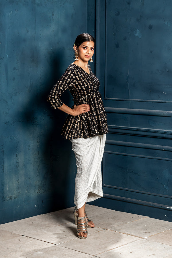Mastani- Empire line top with Embroidered Dhoti