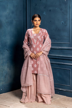 Preyasi- Straight Kurta with Sharara & Dupatta (3-piece set)