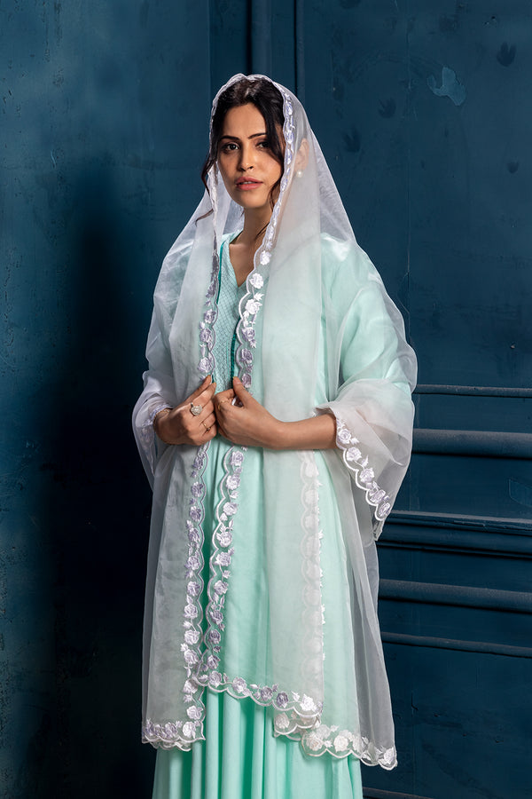Jhanvi-Pure Rayon 3 piece Kurta set