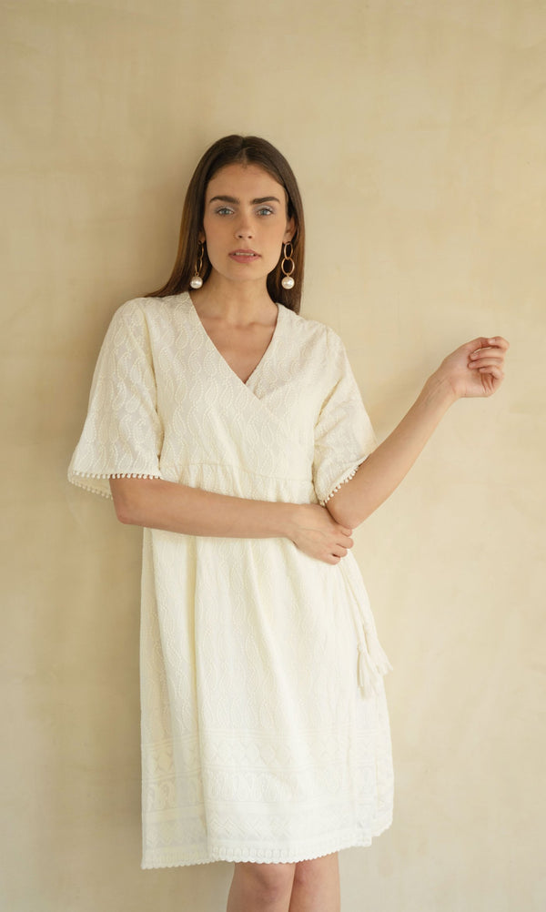NOUSHIN EMBROIDERED DRESS