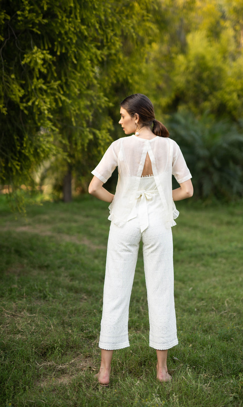 AIKO-  COTTON JUMPSUIT WITH JACKET