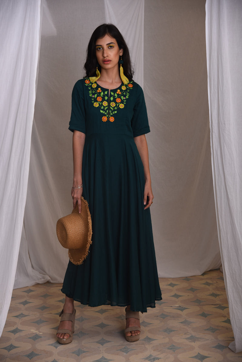 PRASANNA- CASUAL KNEE LENGTH DRESS