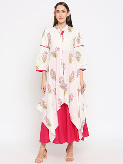 DAKSHA-  BLOCKPRINT CASUAL LONG DRESS