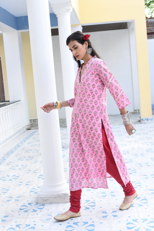 VEDA- COTTON 2 PIECE KURTA SET