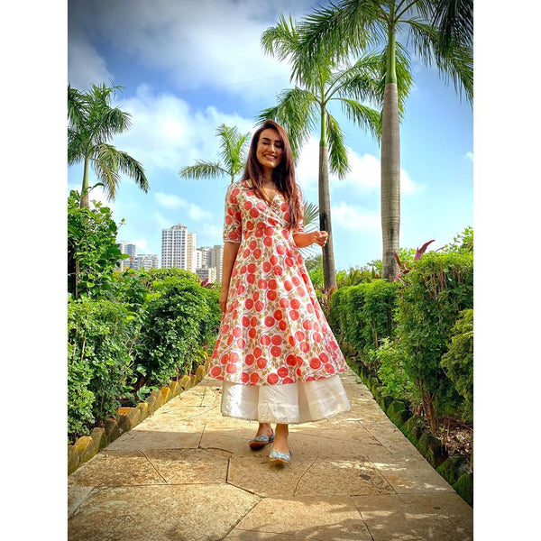 CHAAYA-  COTTON ANGRAKHA DRESS