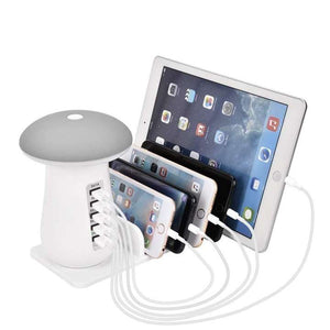 5 Port USB Quick Charger with LED Lamp - AkasakaPH