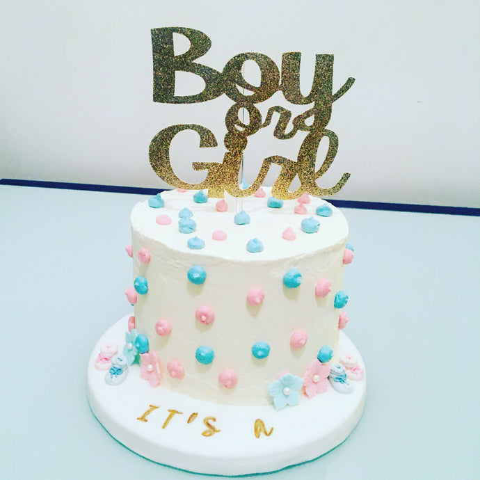 Gender reveal cake pour 15 personnes