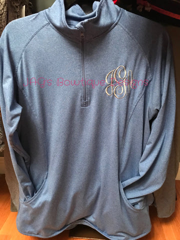 Performance Quarter Zip with Monogram - Test