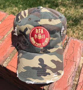 RFA - Distressed Camo Hat