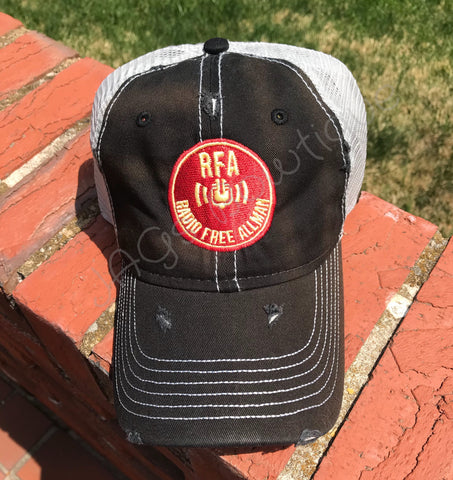 RFA - Black/Silver Dirty Washed Trucker Hat