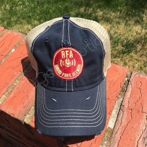 RFA - Navy/Khaki Dirty Washed Trucker Hat