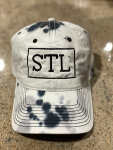 STL RECT Black/White Tie Dye Baseball hat