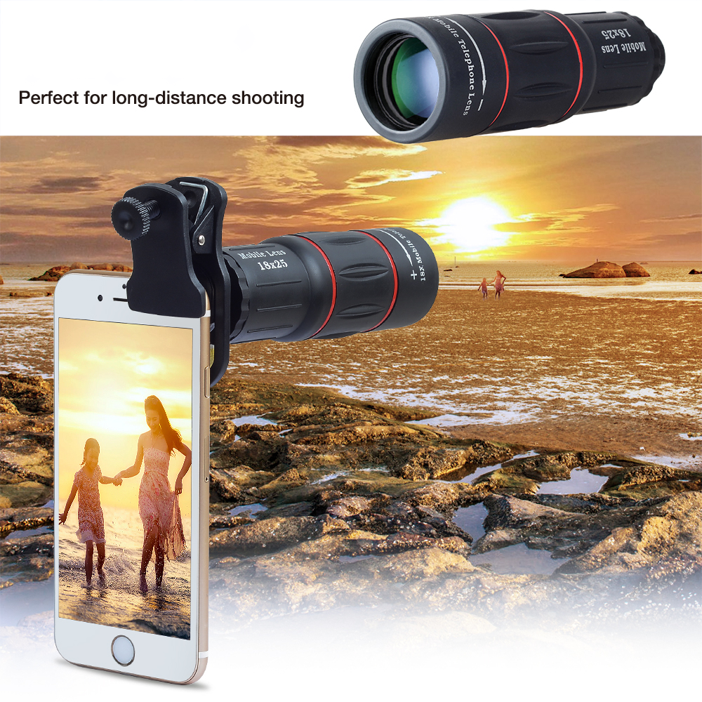 🔥18X Telescope Zoom Mobile Phone Lens for iPhone Samsung Smartphones(💥100+ SALE in 2 DAYS!! )