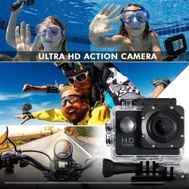 1080P  Sports Action Camera Waterproof with 7 Colors( For DV Outdoor Riding Dive Swimming)