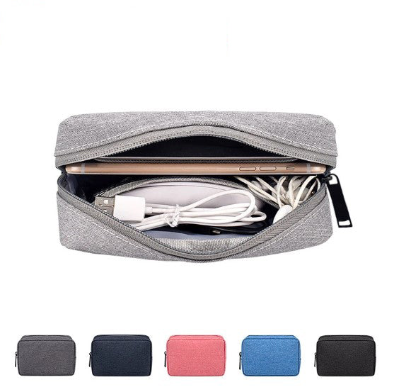 Digital accessory storage bag mouse data cable mobile power protection bag U disk headset charger finishing box