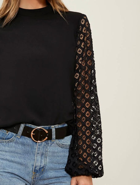 SHEIN Lace Lantern Sleeve - Shop Station EG