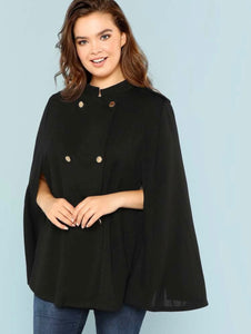 Plus double breasted cape coat - Shop Station EG