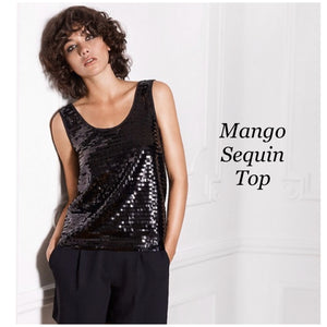 Mango sequin black top - Shop Station EG